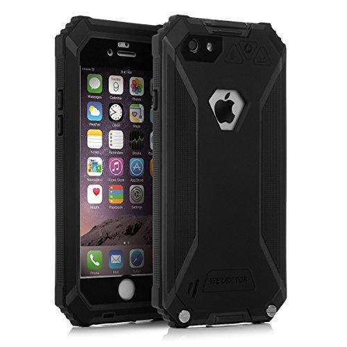 ISELECTOR iPhone 6/ iPhone 6s用 防水ケース IP68取得 防水防雪防塵耐衝撃 耐用TPU材質 指紋認識可 4.7インチ (ブラック)