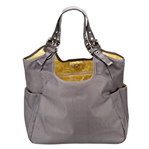 Amazon.com : JP Lizzy Satchel Designer Diaper Bag - Slate Citron