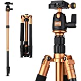 """Rangers 55"""" Portable Light-weight Aluminium Alloy Tripod With Quick Release Ball Head Plate For DSLR Cameras"""