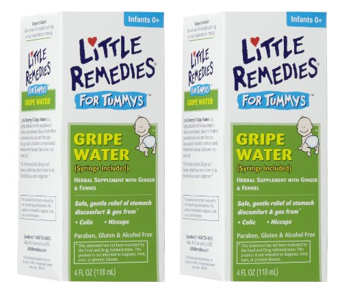 Little Remedies Tummys Gripe Water, 4 Ounce, 2 Pack front-122855