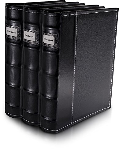 American Covers 11307 Black Vinyl Cd & DVD Storage Binder / Organizer - 3 Pack (Dvd Insert Covers compare prices)
