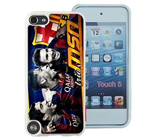 MSN Messi - Suarez - Neymar The Barcelona Trio Case Cover Your iPod Touch 5 Case ( White Hard Plastic ) (Edge Of Heat 6 compare prices)