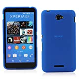 Kit Me Out IT Custodia in gel TPU per Sony Xperia E4 / E4 Dual Sim - Blu Modello satinato