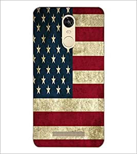 PrintDhaba US Flag D-5529 Back Case Cover for XIAOMI REDMI NOTE 3 (Multi-Coloured)