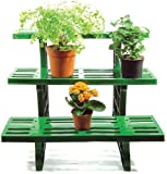 Garden Star 3-tier Etagere Potted Plant Display Stand - For Indoor & Outdoor Garden Use - Ideal For Flowerpots And Shrubs In Pots