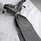 (ディスフィーダ)DISFIDA 5cm幅スリム タイリング付スカーフネクタイ(メンズ シルク100% スカーフタイ)(N-SFTZ)