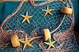 6 X 9 Ft Fishing Net, Fish Netting, Floats, Starfish, Rope, Nautical Decor, Fish Net