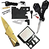 Credit Card Tool Wallet Tool Tactical Multitools with 18 in 1 Pocket Tool Survival Card Tool,Folding Card Knife Wallet Knife,11 in 1 Multitool Card,Key Knife Keychain Knife,4 Type/Set Tactical Gadgets (Color: Set of 4, Tamaño: Pocket Size)
