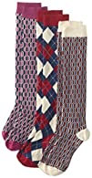 PACT Women's Argyle and Deco Knee Soc…