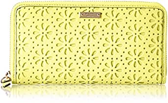 kate spade new york Cedar Street Perforated Lacey Wallet,Bright Cubanelle,One Size