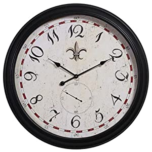 Round Fleur de Lis Old Style Wall Clock - 31.5 inches