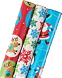 American Greetings Christmas Wrapping Paper, 3-Roll (068981161653)