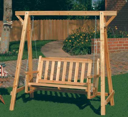 how to make a wooden swing bench 3