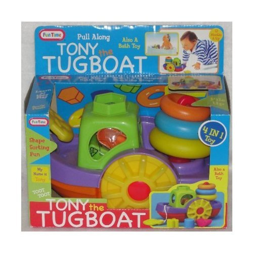 Tony the Pull Along Tugboat 4 in 1 Toy by funtime - 1
