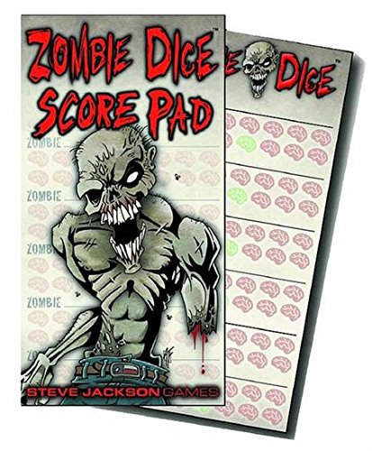 Zombie Dice Score Pad Game