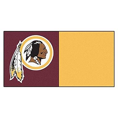 FANMATS NFL Washington Redskins Nylon Face Team Carpet Tiles