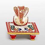MJR Divine Marble Ganesh Chowki