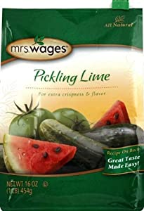 Mrs. Wages Pickling Lime, 1 Pound Bag (Pack of 2)