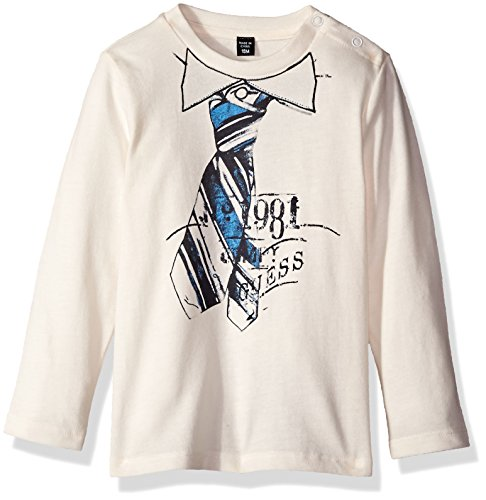 GUESS Baby Boys Long-Sleeve Top W/Tie Screen Print