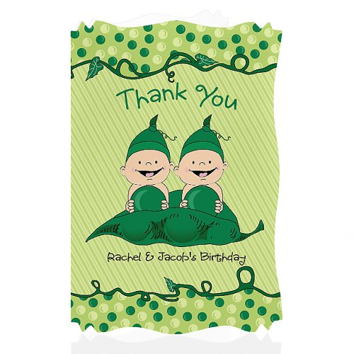 Twin Baby Shower Thank You Cards