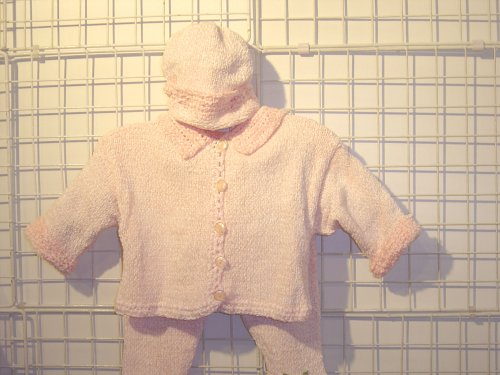 Cpk75bpp, Knitted on Hand Knitting Machine Then Finished By Hand Crochet Infant Girls Outfit, Containing Baby Pink Chenille Cardigan Sweater, Pant, Hat Set. - Buy Cpk75bpp, Knitted on Hand Knitting Machine Then Finished By Hand Crochet Infant Girls Outfit, Containing Baby Pink Chenille Cardigan Sweater, Pant, Hat Set. - Purchase Cpk75bpp, Knitted on Hand Knitting Machine Then Finished By Hand Crochet Infant Girls Outfit, Containing Baby Pink Chenille Cardigan Sweater, Pant, Hat Set. (Gita, Gita Dresses, Gita Girls Dresses, Apparel, Departments, Kids & Baby, Girls, Dresses, Girls Dresses, Formal Occasion & Party)
