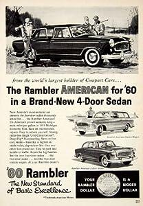 1959 Ad 1960 Rambler American 4 Door Sedan Classic Car Automobile Station Wagon - Original Print Ad