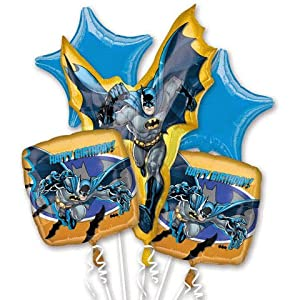 Batman Birthday Bouquet Of Balloons from National Party Supply