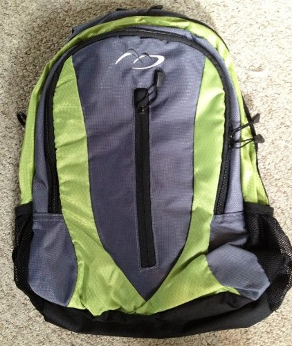 Daypack - School College Work Travel Gym Hiking Backpack Rucksack Bag (Green and Black)