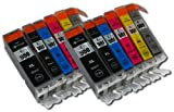The Ink Squid 2 Sets Of 6 (Inc Grey) Compatible Pgi-550Bk /Cli-551Bk/C/M/Y/Gy Xl Black Cyan Magenta Yellow And Grey High Capacity Compatible Ink Cartridges For Canon Pixma Mg6350 Printers