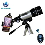 SLS Universal Cell Phone Adapter Mount Compatible with Telescope Spotting Scopes Binocul mount for smartphones. Compatible with binocular, spoting scopes and more Smartphone video image recordings