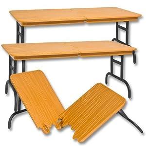 set of 3 brown breakable tables for wwe jakks mattel wrestling action figures toys. Black Bedroom Furniture Sets. Home Design Ideas