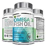 Abundant Health Omega 3 3000mg Fish Oil Pills, 180 Softgels