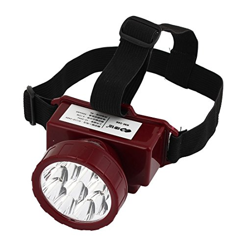 Us Plug Ac 110V-220V Plastic 9 Leds Torch Headlamp White Light Red