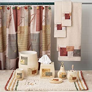 and bath collection amazon com tranquility bath collection shower curtain