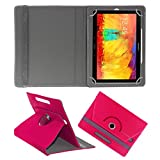 ACM ROTATING 360° LEATHER FLIP CASE FOR SAMSUNG GALAXY NOTE 10.1 P6010 TABLET STAND COVER HOLDER DARK PINK