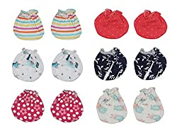 Dream Baby Mittens Set (Multi-Coloured, 0-3 Months)