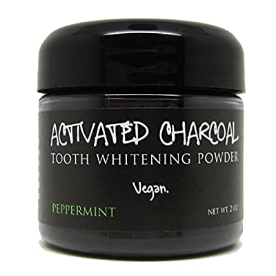 Best Cheap Deal for Activated Charcoal Tooth Whitening Powder 2 oz, Peppermint Flavor, Whiten Teeth with All Natural Organic Tooth Powder, Vegan by Wink Soap - Free 2 Day Shipping Available