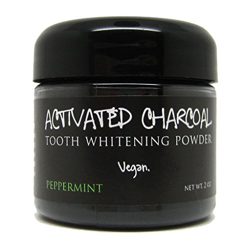 Activated Charcoal Tooth Whitening Powder 2 oz, Peppermint Flavor, Whiten Teeth with All Natural Organic Tooth Powder, Vegan (Carbon Teeth compare prices)