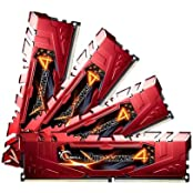G.SKILL Ripjaws 4 Series 32GB 4 X 8GB 288-Pin DDR4 SDRAM DDR4 2666 PC4-21300 Desktop Memory Model F4-2666C15Q-...
