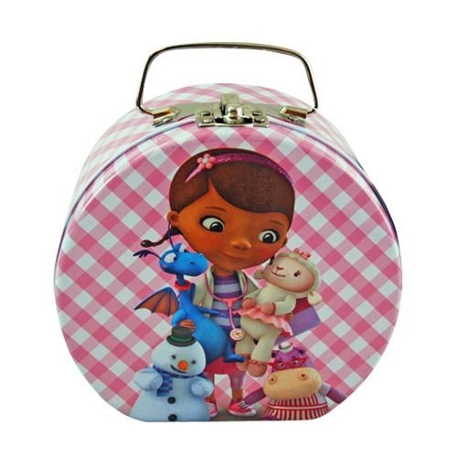 Disney Doc McStuffins Semi-round Shaped Metal Tin Carrying Case - Lunch Box, Storage - 1