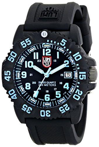 Luminox Colormark Series blue - Reloj analógico de mujer de cuarzo con correa negra - sumergible a 200 metros