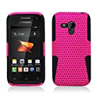 Aimo Wireless SAMM830PCPA005 Hybrid Armor Cheeze Case for Samsung Galaxy Rush M830 - Retail Packaging - Black/Hot Pink