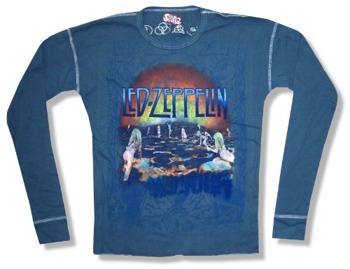 "Led Zeppelin / Swag ""Houses Of The Holy"" Blue Long Sleeve Thermal New Adult (Large)"