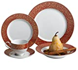 Mikasa Parchment Red 40-Piece Dinnerware Set, Service for 8