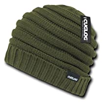 CUGLOG Genuine Slouch Beanie Hat - Olive