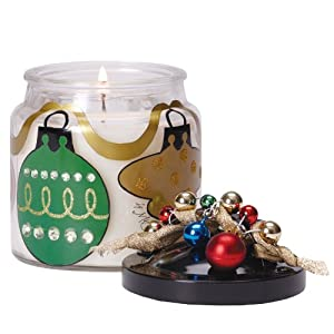 Amazon.com: 2 Chrambiance All Aglow Glass Jar Soy Christmas ...