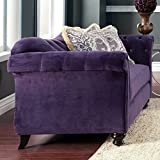 Furniture of America Wellington Premium Fabric Loveseat - Purple - IDF-2222-LV