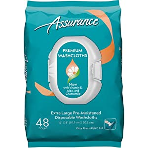 "ASSURANCE PREMIUM WASHCLOTHES 12""x 8"" (48 count) from FIRST QUALITY"