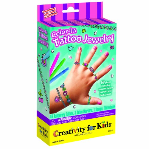 Creativity for Kids Color in Tattoo Jewelry
