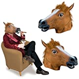 (Give 1 mouse pad,random)Horse Head Mask for Parties, Gifts,Christmas, Easter, New Years Eve Party, Halloween